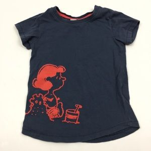 Hanna Andersson Peanuts Gray t-shirt Size 4T